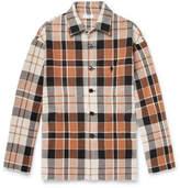 Cmmn Swdn Kline Checked Cotton And Linen-Blend Shirt Jacket