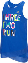 adidas Three, Two, Run Graphic-Print Tank, Toddler & Little Girls (2T-6X), and Big Girls (7-16)
