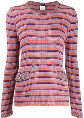 Chanel Pre Owned 2009s striped T-shirt