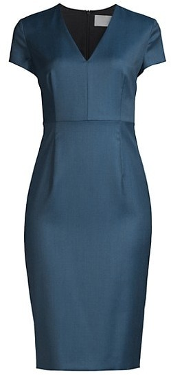 HUGO BOSS Danati Super Stretch Midi Sheath Dress