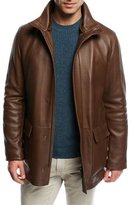 Loro Piana Winter Voyager Long Leather Coat