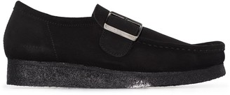 Clarks Wallabee buckle-strap shoes