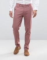 Asos Skinny Smart Pants In Light Pink