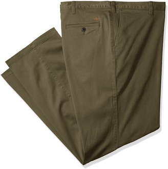 Dockers Big-Tall Pacific Washed Khaki Flat-Front Pant