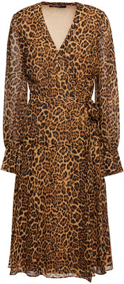 Jay Godfrey Leopard-print Crepe De Chine Wrap Dress