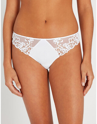 Simone Perele Saga mesh and stretch-lace thong