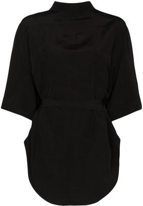Jil Sander Mako tie-back blouse