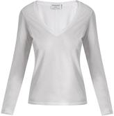 Frame Deep V-neck cotton T-shirt