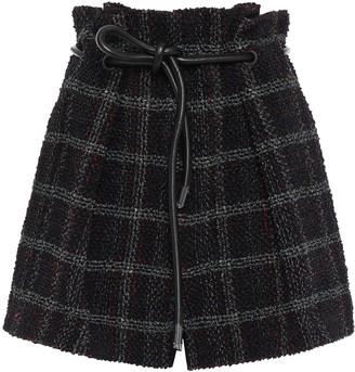 3.1 Phillip Lim Checked Tweed Shorts