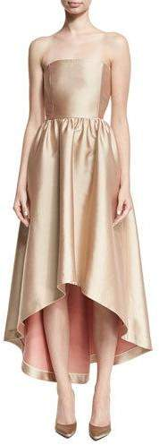 Co Strapless Satin High-Low Cocktail Dress