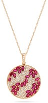 Effy Jewelry Effy Gemma 14K Rose Gold Natural Marquise Ruby and Diamond Pendant, 4.26 TCW