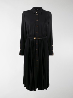 Versace Pleated Shirt Dress