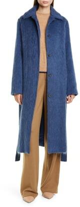 Vince Tie Waist Wool Blend Coat