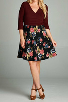 Gilli Burgundy Floral Dress