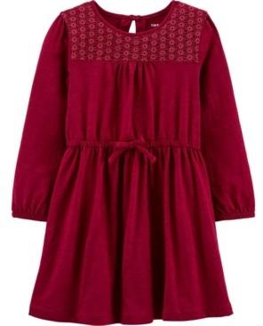 Carter's Toddler Girl Crocheted Slub Jersey Dress
