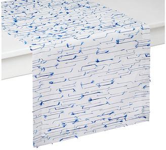 "Amalfi by Rangoni Table Runner - Blue/White - Mode Living - 90""L x 16""W"