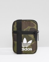 Adidas Originals Flight Bag In Camo Bk7212