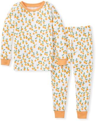 Burt's Bees Freshly Picked Oranges Snug Fit Organic Toddler Pajamas