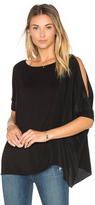 Heather Asymmetric Silk Boxy Top