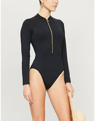 Seafolly Zip-front long-sleeved surfsuit