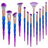 Saking 12PCS Makeup Brushes Set Foundation Eyebrow Eyeliner Blush Cosmetic Concealer Unicorn Brush