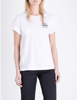 Stussy Vintage logo-print cotton-jersey t-shirt