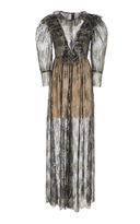 Manoush Sheer Ruffle Dress
