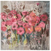 Floral Frenzy Pink I (Canvas)