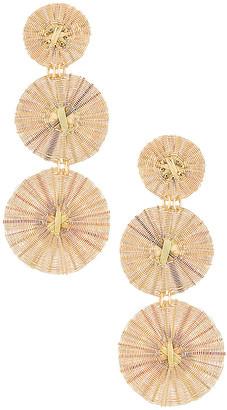 Mercedes Salazar Three Golden Suns Earrings