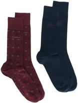 HUGO BOSS pack of two socks
