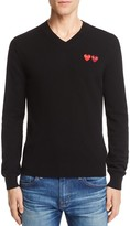 Comme des Garcons Wool Double Heart V-Neck Sweater
