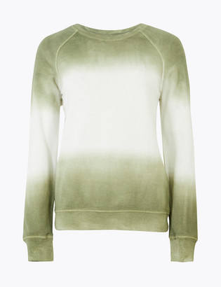 Marks and Spencer Pure Cotton Ombre Sweatshirt