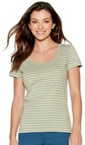 M&Co Scoop neck stripe top