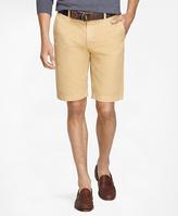 "Brooks Brothers Garment-Dyed 11"" Lightweight Cotton Bermuda Shorts"
