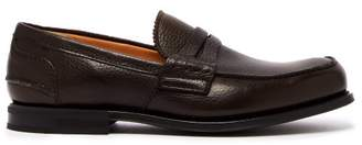 Church's Pembrey Leather Penny Loafers - Mens - Dark Brown