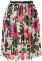 Blugirl rose print skirt