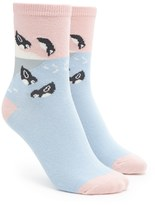 Forever 21 Sliding Penguin Print Socks
