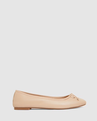 Jane Debster - Women's Nude Ballet Flats - Fonteyn - Size One Size, 38 at The Iconic