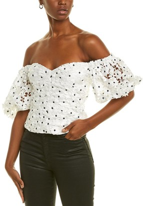 Self-Portrait Daisy Lace Top