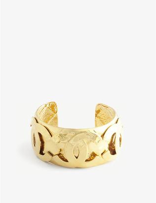 Susan Caplan Vintage Pre-Loved Chanel logo gold-plated bangle
