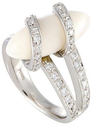 Heritage Platinum 0.70 Ct. Tw. Diamond & Coral Ring