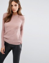 Y.A.S Clovy Crew Neck Sweater In Rose
