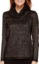 WORTHINGTON Worthington Long-Sleeve Cowlneck Sweater - Petite