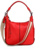 Tod's Miky Small Leather Hobo Bag