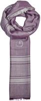 Armani Collezioni Purple Logo-jacquard Scarf