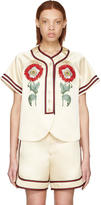 Gucci Beige loved Embroidered Duchesse Shirt