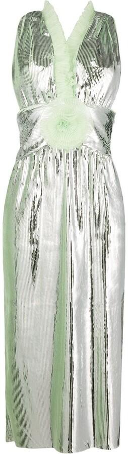 Marco De Vincenzo Ruffle Trim Midi Dress