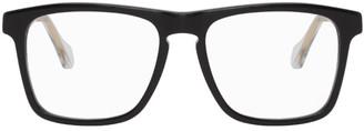 Gucci Black and Transparent Square Glasses