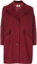 MM6 MAISON MARGIELA classic buttoned coat - women - Polyamide/Viscose/Wool - 38