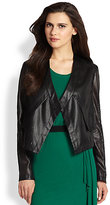 BCBGMAXAZRIA Perforated Faux Leather Jacket